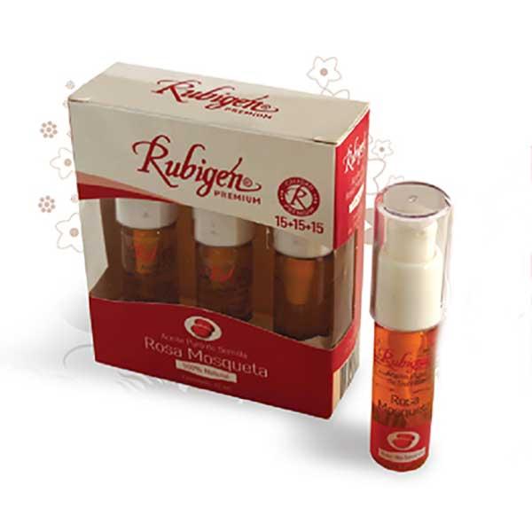 Rubigen Three 15 ml Bottles Premium Rosehip Oil