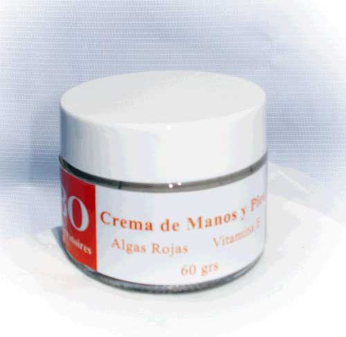 Green-Red Seaweed Hand and Feet Cream with Glycoproteins