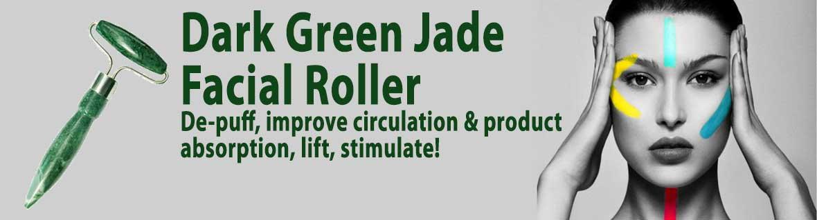 Deep Green Jade Roller